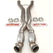 "C6 Z06 CROSSOVER PIPE WITH CONVERTERS 3.0"" DIA"